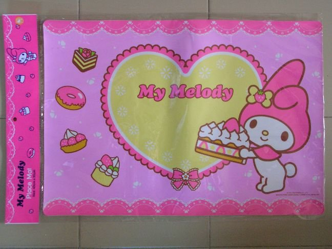 Image 0 of Sanrio My Melody Plastic Place Mat #1