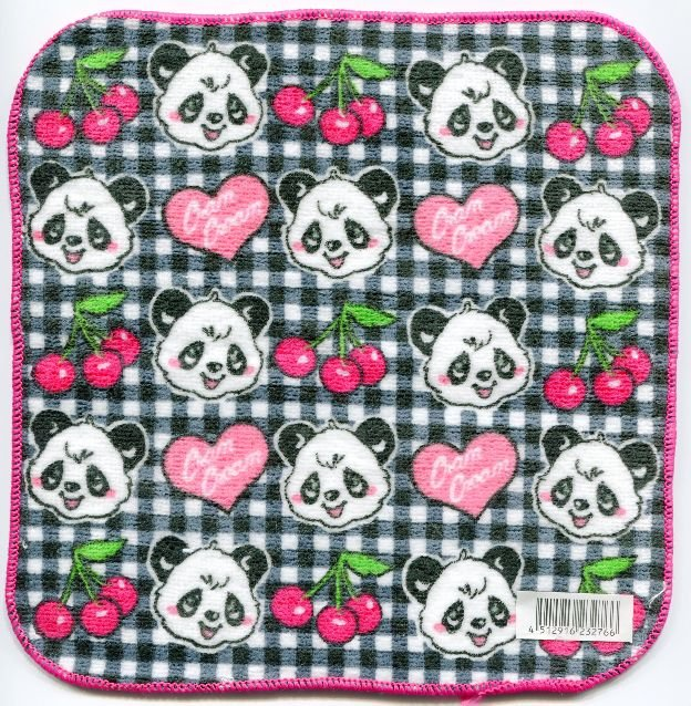 Image 0 of Japan Panda Face Towel Wash Cloth #1 (T0546)