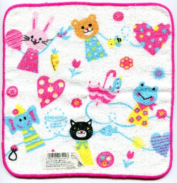 Image 0 of Japan Animal Face Towel Wash Cloth #2 (T0548)