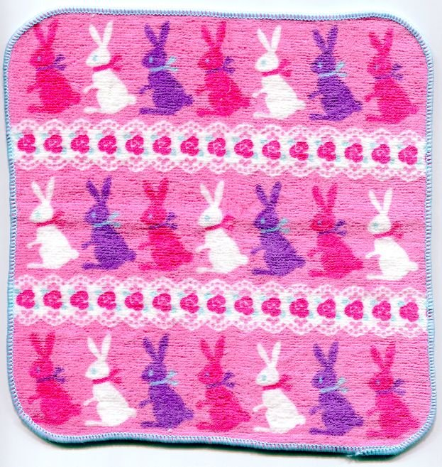 Image 0 of Japan Rabbit Face Towel Wash Cloth #1 (T0549)