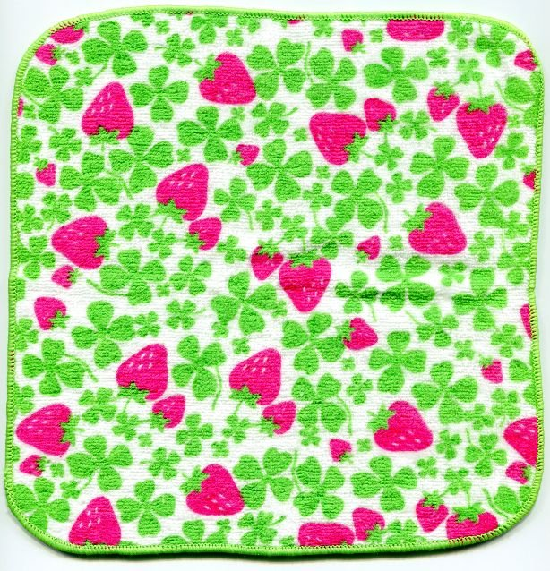 Image 0 of Japan Strawberry Face Towel Wash Cloth #2 (T0551)
