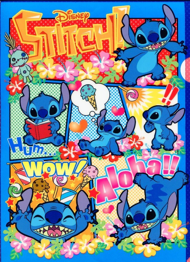 Image 0 of Disney Stitch A4 Plastic File Folder #13