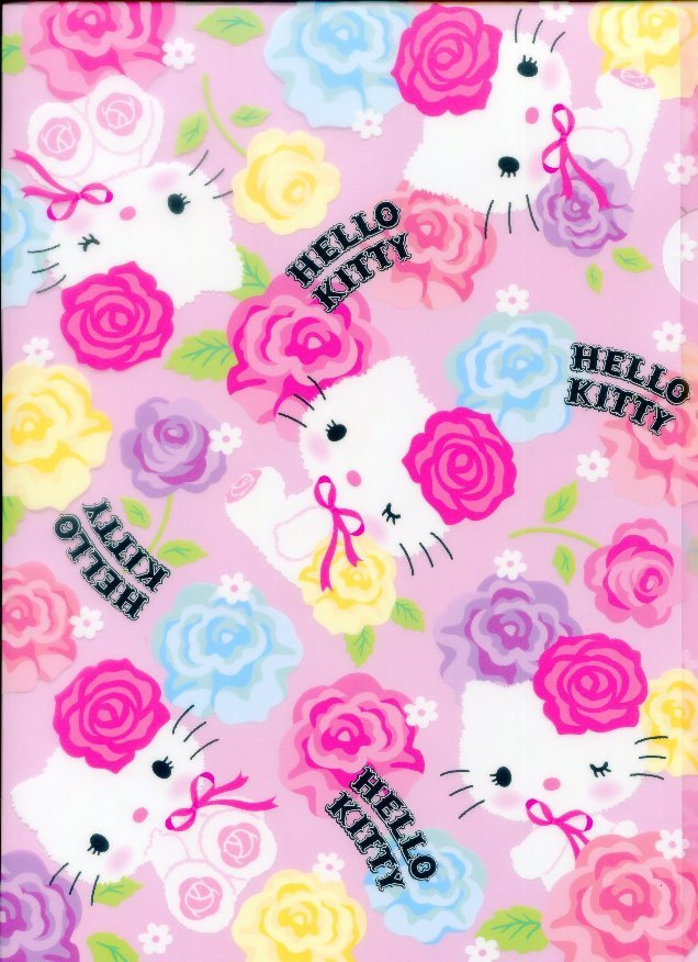 Image 0 of Sanrio Hello Kitty Rose A4 Plastic File Folder #2
