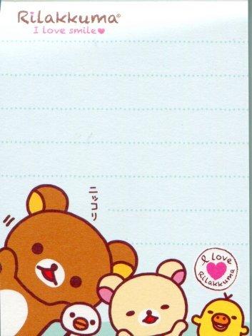 Image 1 of San-X Rilakkuma Relax Bear 2 Design Mini Memo Pad #23 (M0959)