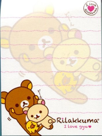 Image 1 of San-X Rilakkuma Relax Bear 2 Design Mini Memo Pad #24 (M0960)
