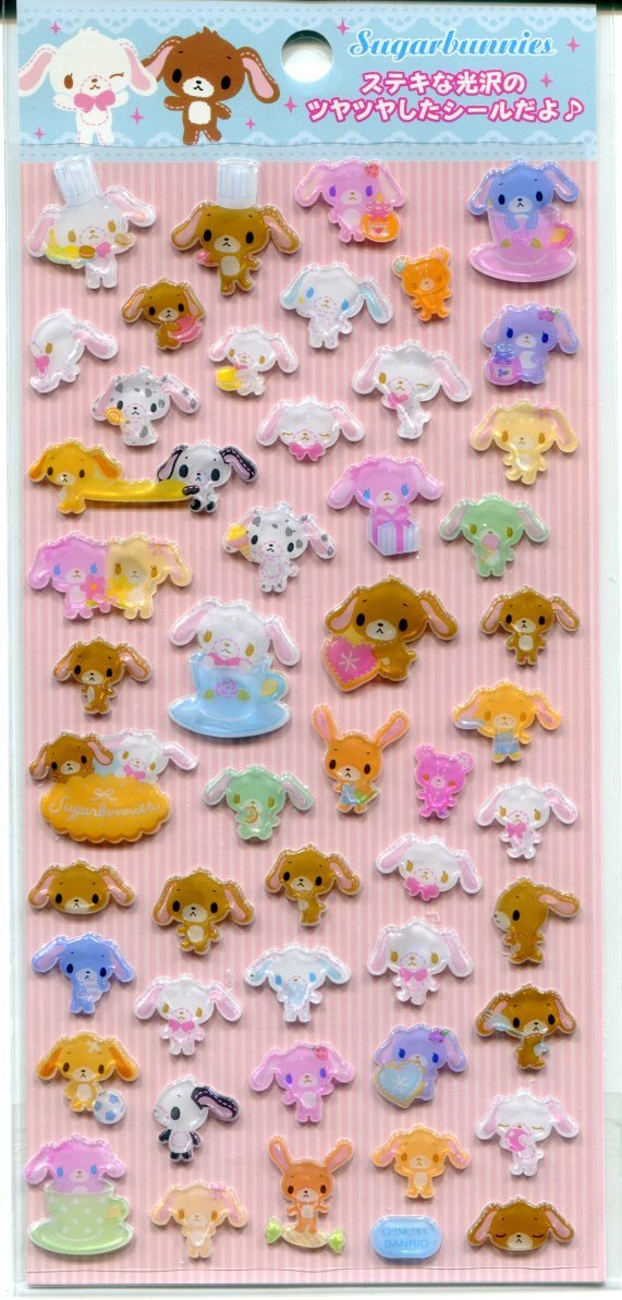 Image 0 of Sanrio Sugar Bunnies and Friend Sticker Sheet #1 (I1073)