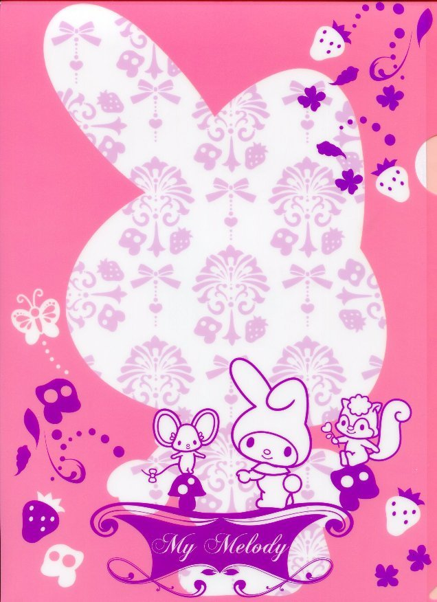 Image 0 of Sanrio My Melody Shadow A4 Plastic File Folder #1