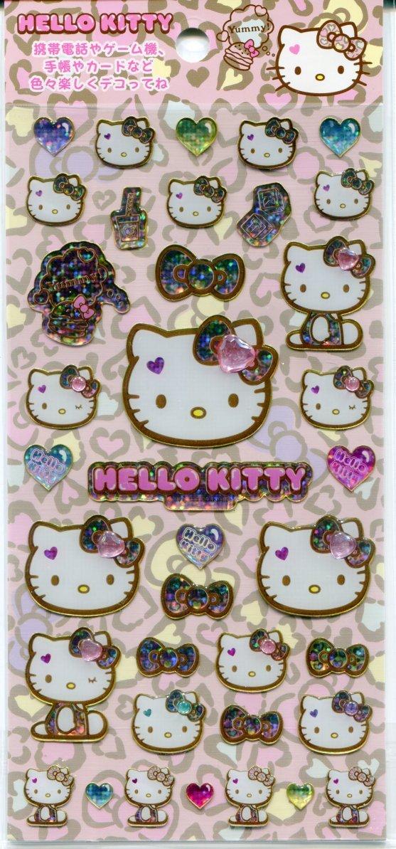Image 0 of Sanrio Hello Kitty Leopard Pattern Sticker Sheet #1 (I1095)
