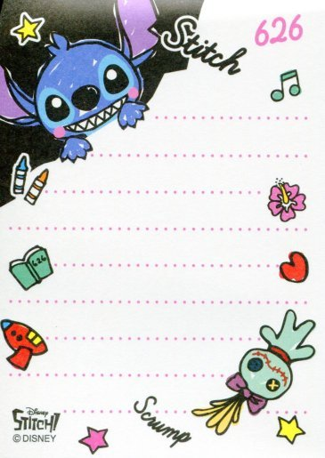 Image 1 of Disney Stitch Shiny Cover 2 Design Mini Memo Pad #1 (M0970)