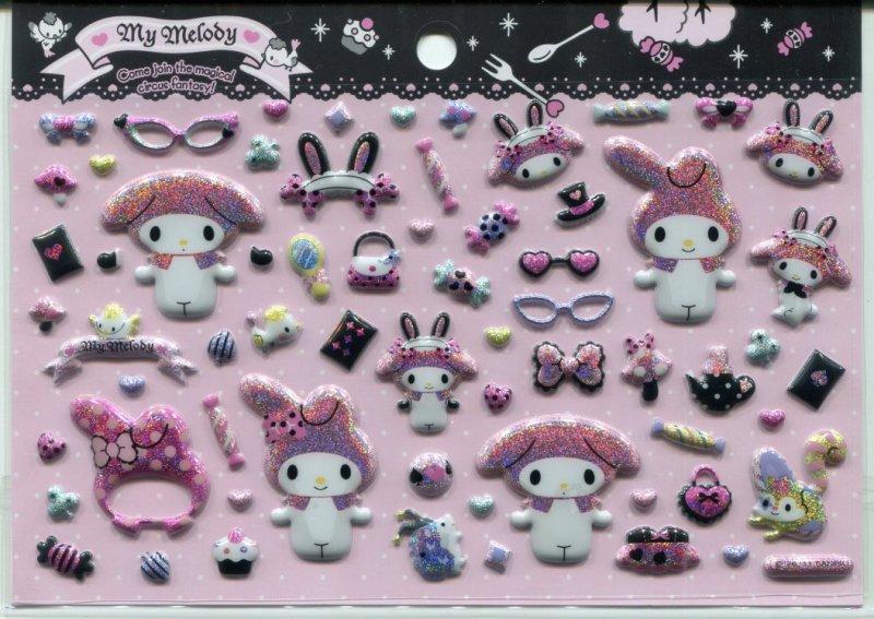 Image 0 of Sanrio My Melody Magic Sponge Sticker Sheet #1 (I1106)