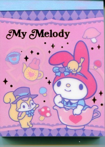 Image 0 of Sanrio My Melody 2 Design Mini Memo Pad #5 (M1003)