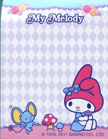 Image 1 of Sanrio My Melody 2 Design Mini Memo Pad #5 (M1003)