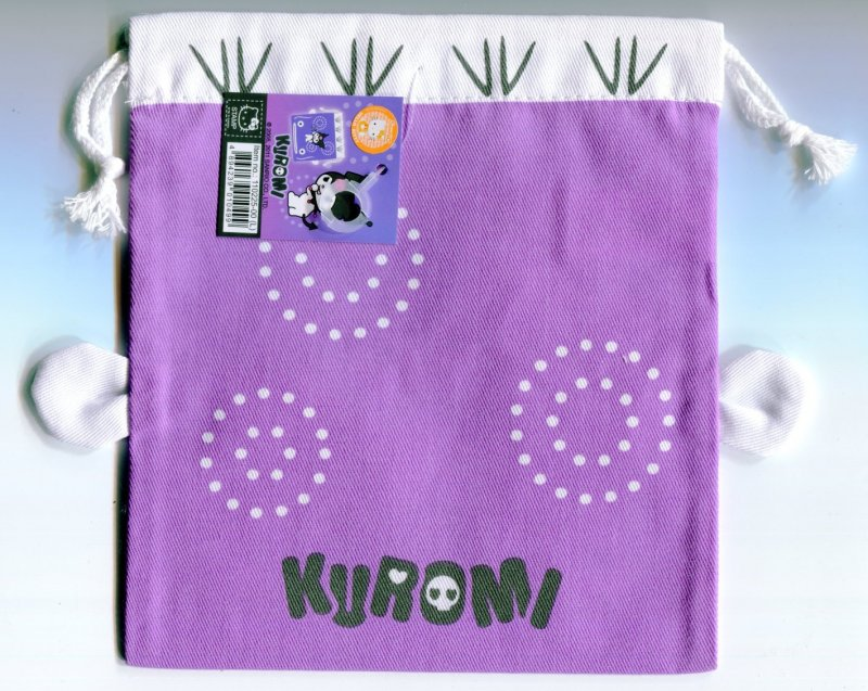 Image 1 of Sanrio Kuromi Catfish Cotton Drawstring Bag #2 (AD0150)