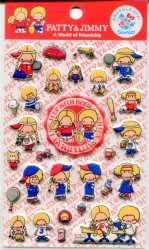 Thumbnail of Sanrio Patty & Jimmy A World of Friendship Sponge Sticker Sheet #1 (I1132)