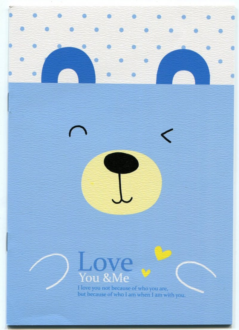 Image 0 of Love You and Me Animal Face Notebook #2 (NK0019)