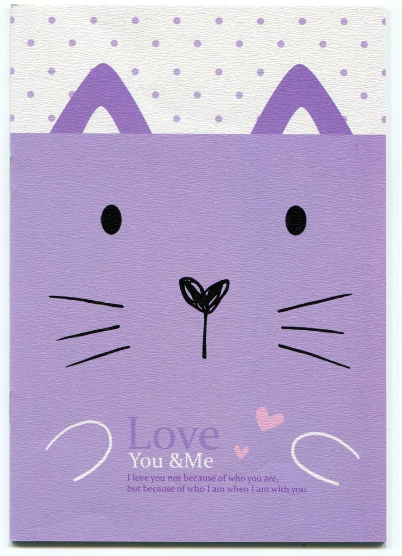 Image 0 of Love You and Me Animal Face Notebook #3 (NK0020)