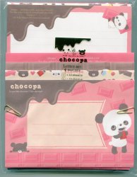 Thumbnail of San-X Chocopa Panda 4 Design Letter Set #1 (L0959)