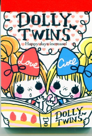 Image 0 of Kamio Dolly Twins 2 Design Mini Memo Pad #1 (M1047)