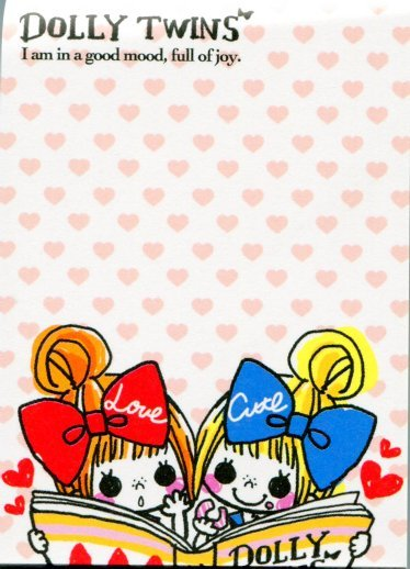 Image 1 of Kamio Dolly Twins 2 Design Mini Memo Pad #1 (M1047)