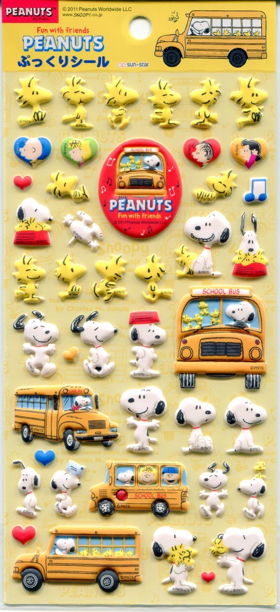 Image 0 of Peanuts Snoopy Sponge Sticker Sheet #2 (I1170)