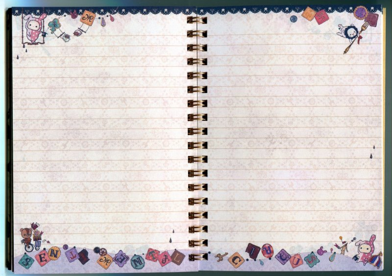 Image 1 of San-X Sentimental Circus Spiral Notebook Memo #10 (NB0078)