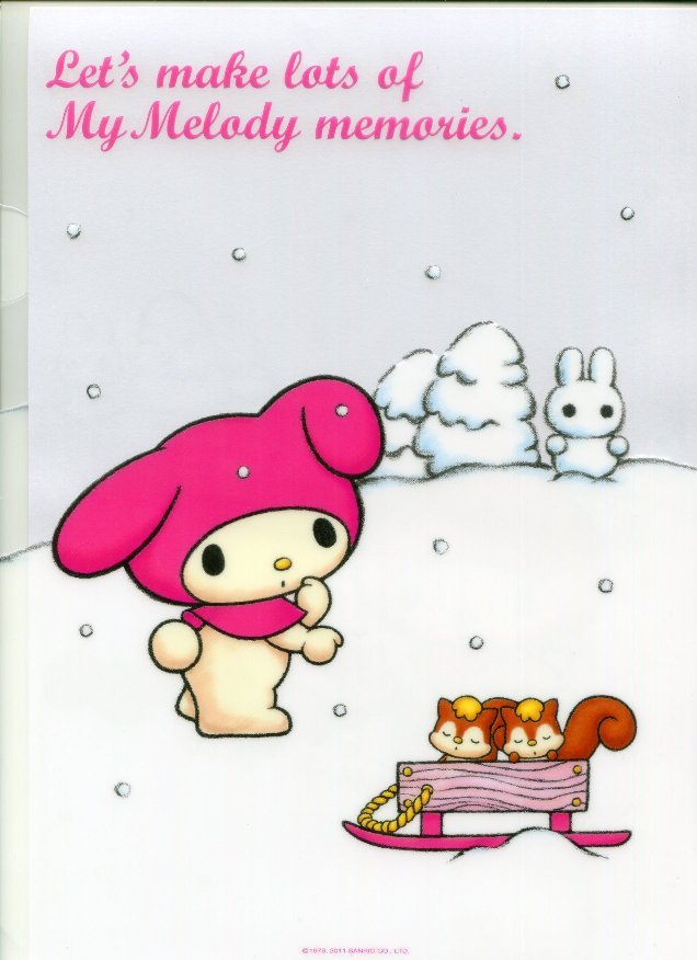 Image 1 of Sanrio My Melody Snow A4 Plastic File Folder #1