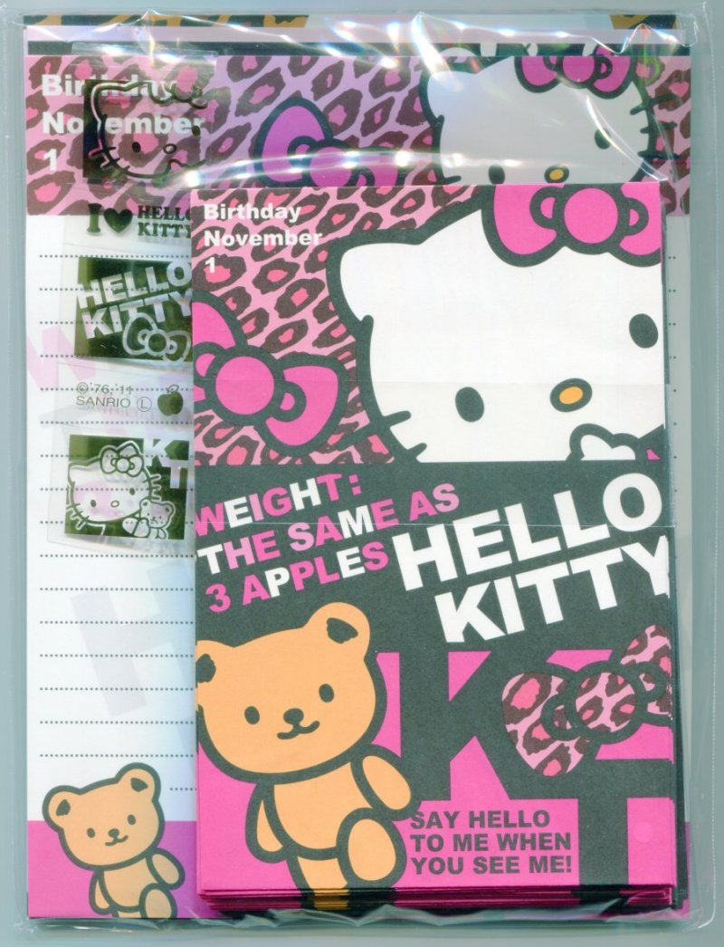 Image 0 of Sanrio Hello Kitty 4 Design Letter Set #10 (L0975)