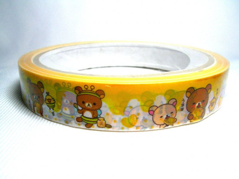 Image 0 of San-X Rilakkuma Relax Bear Deco Tape Adhesive Tape #9 (DM0138)