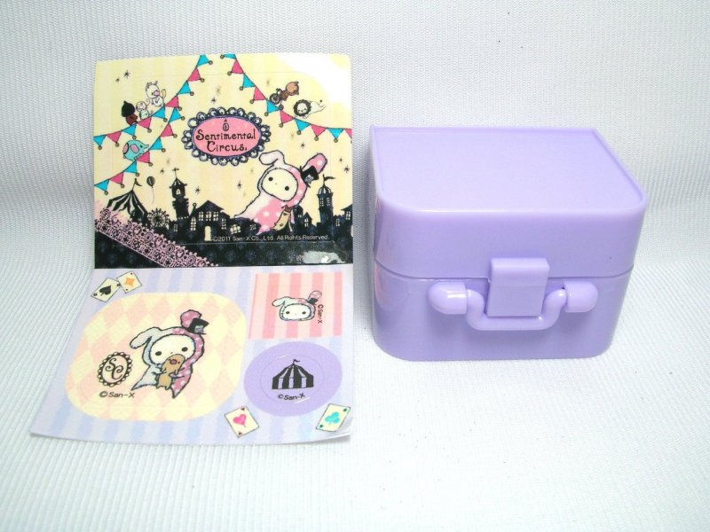 Image 0 of San-X Sentimental Circus 3 Stamps and Case Set #1 (SS0082)
