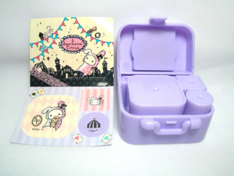 Image 1 of San-X Sentimental Circus 3 Stamps and Case Set #1 (SS0082)