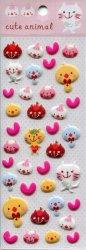 Tianke Cute Animal Sponge Sticker Sheet #1 (I1198)