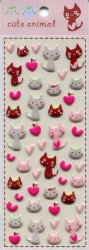Tianke Cute Animal Sponge Sticker Sheet #2 (I1199)
