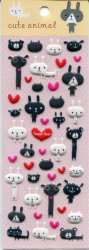 Tianke Cute Animal Sponge Sticker Sheet #5 (I1202)