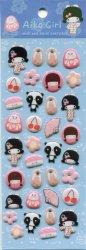 Tianke Japanese Aiko Girl Sponge Sticker Sheet #2 (I1209)