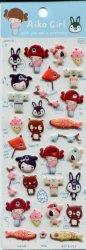 Tianke Japanese Aiko Girl Sponge Sticker Sheet #3 (I1210)