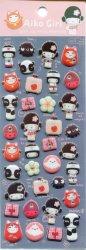 Tianke Japanese Aiko Girl Sponge Sticker Sheet #4 (I1211)