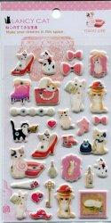 Tianke Lancy Cat Stone Sponge Sticker Sheet #1 (I1212)