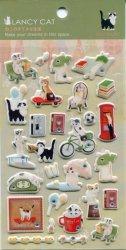 Tianke Lancy Cat Stone Sponge Sticker Sheet #2 (I1213)