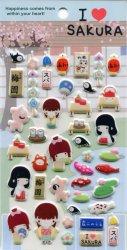 Tianke Life in Japan Sponge Sticker Sheet #3 (I1218)