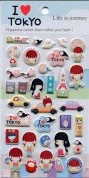 Tianke Life in Japan Sponge Sticker Sheet #4 (I1219)