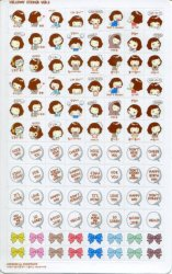 Thumbnail of Korea Cookys Girl Hello Day Deco Sticker Sheet Part 3 #5 (I1226)