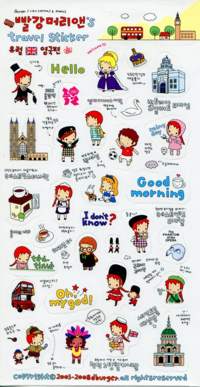 Image 0 of Korea Anne's Europe Travel Deco Sticker Sheet #2 (I1228)