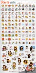 Thumbnail of Korea Bonnie Girl Deco Sticker Sheet #3 (I1241)