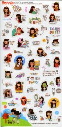 Thumbnail of Korea Bonnie Girl Deco Sticker Sheet #5 (I1243)