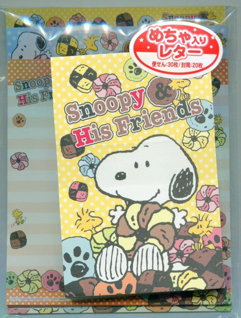 Image 0 of Peanuts Snoopy and Friends Sweet Dessert 4 Design Letter Set #1 (L1029)