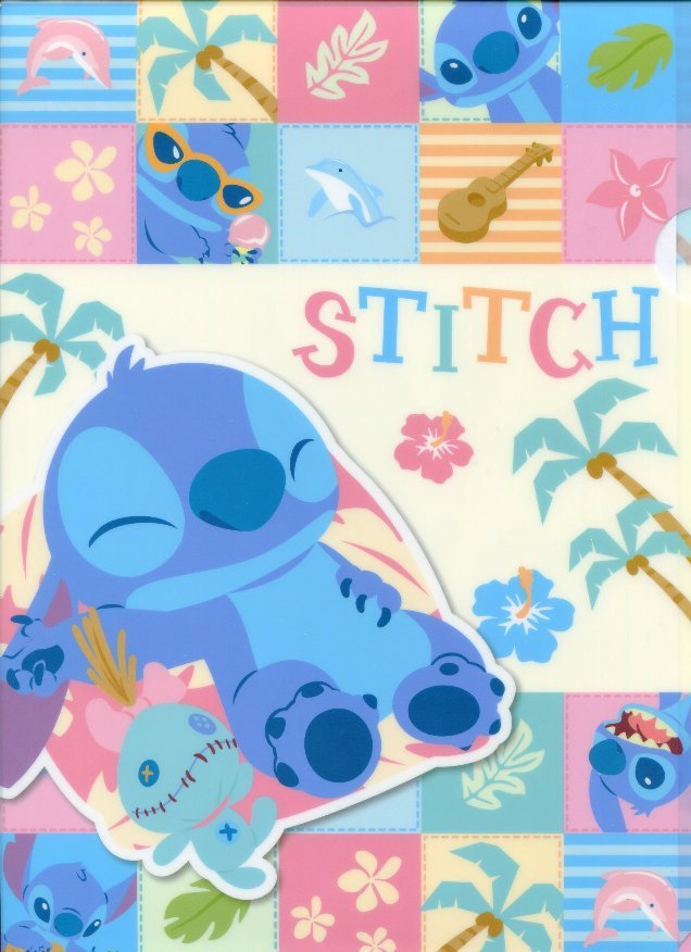 Image 0 of Disney Stitch A4 Plastic File Folder #17