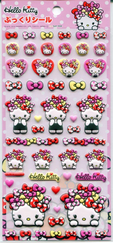 Image 0 of Sanrio Hello Kitty Lovely Ribbon Sponge Sticker Sheet #1 (I1276)