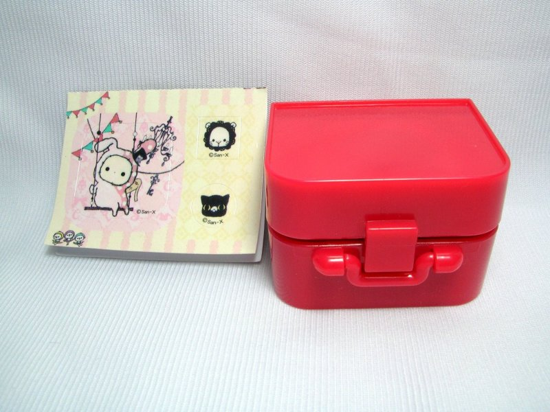 Image 0 of San-X Sentimental Circus 3 Stamps and Case Set #2 (SS0083)