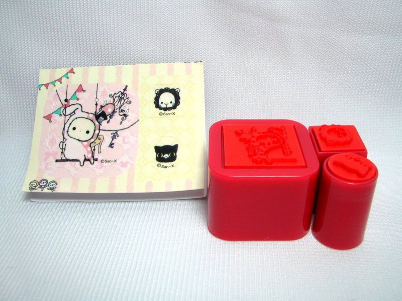 Image 7 of San-X Sentimental Circus 3 Stamps and Case Set #2 (SS0083)
