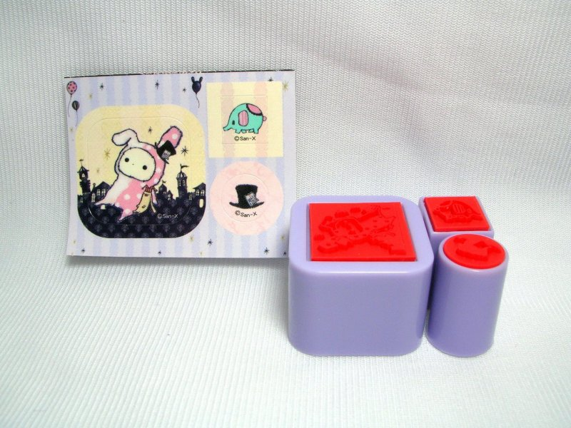 Image 7 of San-X Sentimental Circus 3 Stamps and Case Set #3 (SS0084)